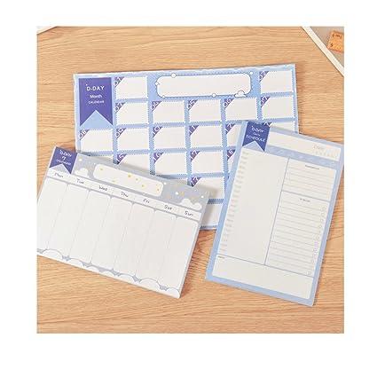 amazon com desk monthly calendar daily calendar planner for school
