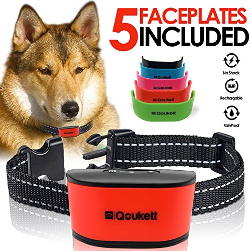 No Bark Collar {2018 Upgrade} Humane Barking Collar, Rechargeable No Shock Anti Bark For Small To Medium Dogs, Adjustable Sensitivity Levels Sound Beep & Vibration Pet Training | Rechargeable Battery