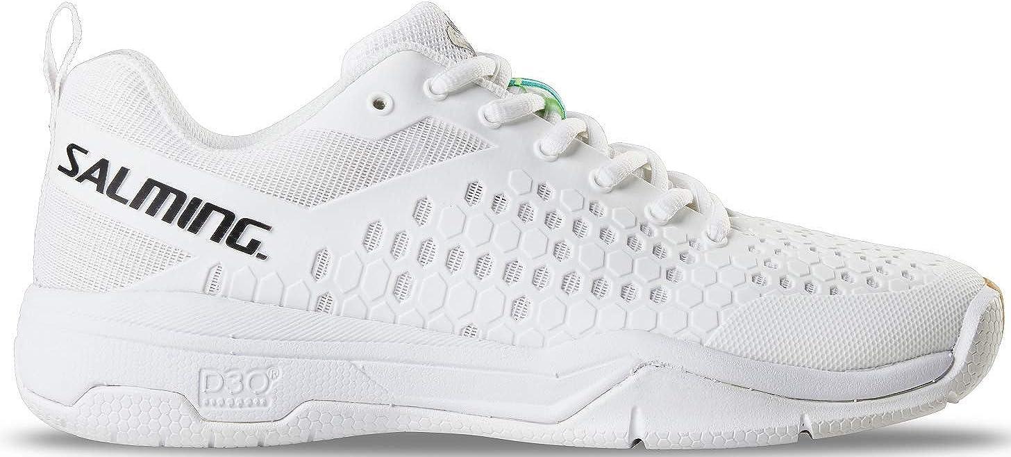 Salming Eagle Indoor 1239104-0707 - Zapatillas de balonmano para interior, color blanco