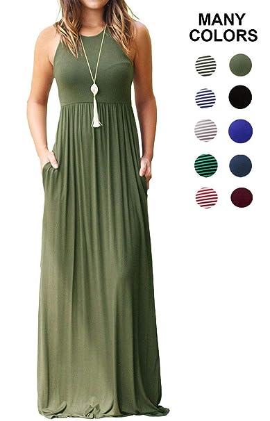 Multi Colored Striped Tank Maxi Dress