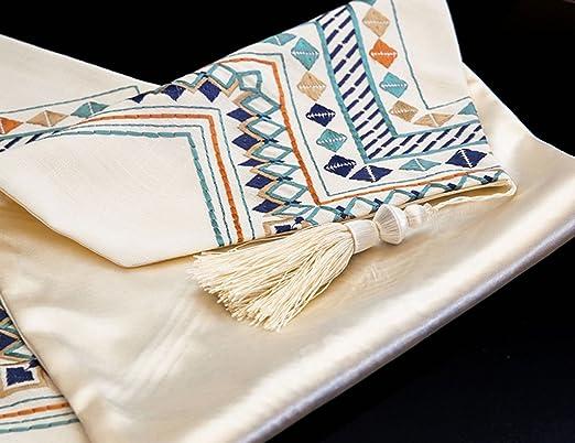 Corredor de la tabla ERRU Mesa de té de Tela Hotel Cama Cola de la Toalla Bordado Tabla Runner Simple Home Fabric Bed Runner Manteles (Tamaño : 32 * 180cm): ...