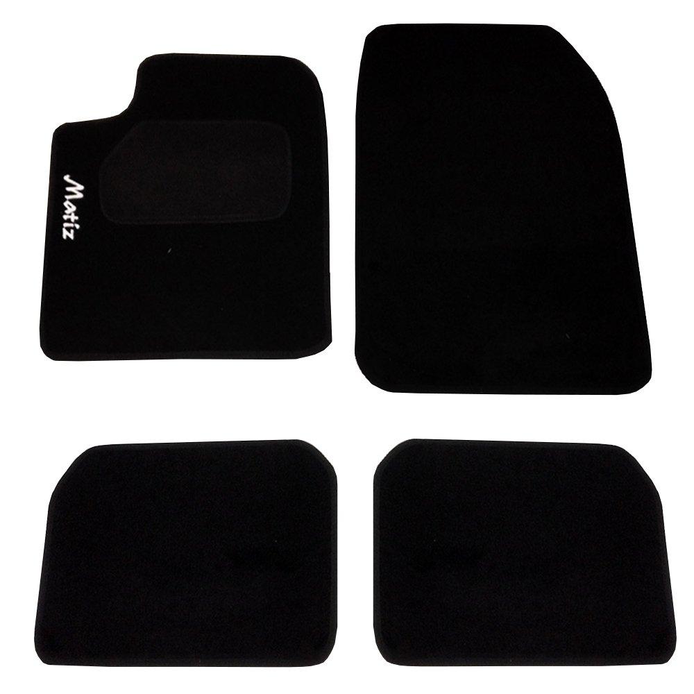 Alfombrillas para coche - Antideslizante 3 uds Modelo Star DBS 1765238 Alfombrillas de coche A medida Aspecto terciopelo Moqueta en negro 900 g//m/²
