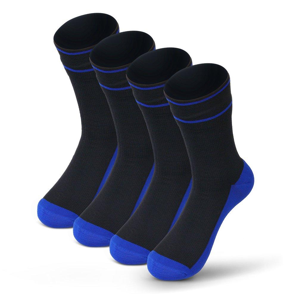 (2 Pairs) Waterfly Waterproof Socks Breathable Sweat-absorbing Socks for Men Women Trekking Hiking