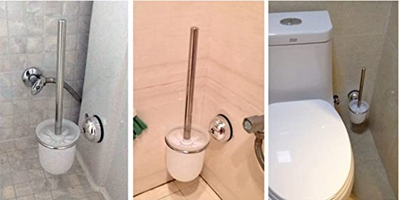 Kreativer edelstahl wc bürsten sauger weiche toilettenbürste