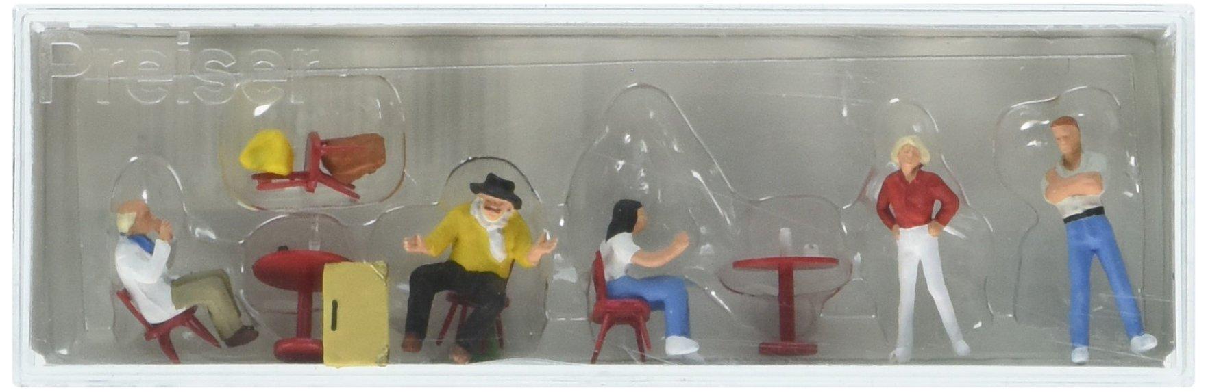 Preiser 10349 Recreation & Sports Students/Artists in Cafe HO Model Figure