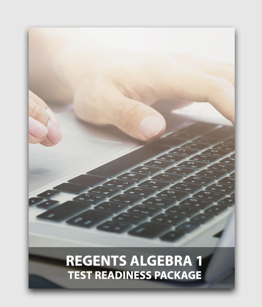 Regents Algebra I (Sanity Check) - Test readiness package (Online test) [Online Code]