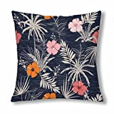 InterestPrint Trendy Summer Hawaii Throw Pillow Cover 18''x 18''(Twin Sides)