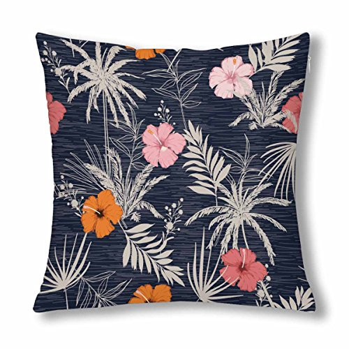 InterestPrint Trendy Summer Hawaii Throw Pillow Cover 18''x 18''(Twin Sides) by InterestPrint