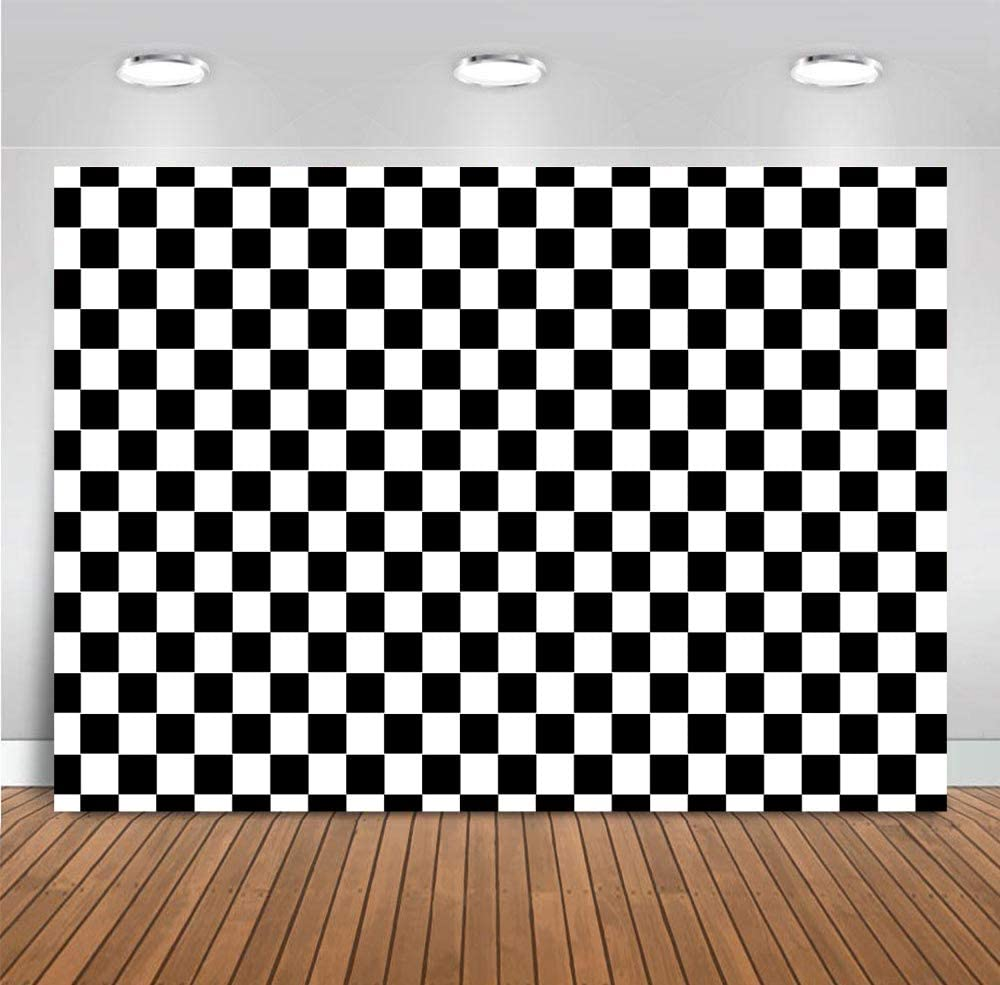 Amazon Com Checkered Backdrops Photography Vinyl Racing White And Black Checker Flag Pattern Party Banner Wall Home Decoration Chess Board Photo Backgrounds Birthday Supplies Photobooth Props 5x3ft Camera Photo