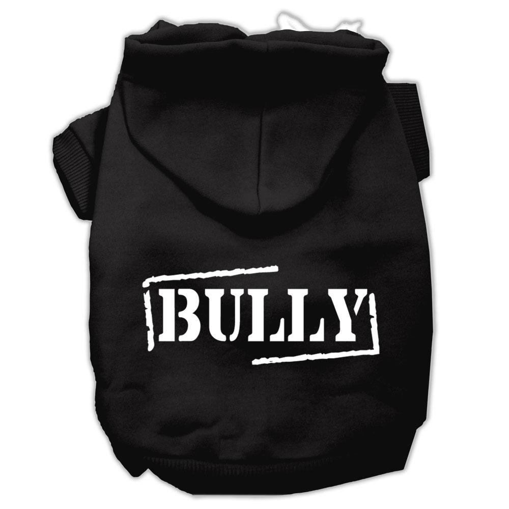 Black X-Large Black X-Large Mirage Pet Products Bully Screen Printed Pet Hoodies, X-Large, Black