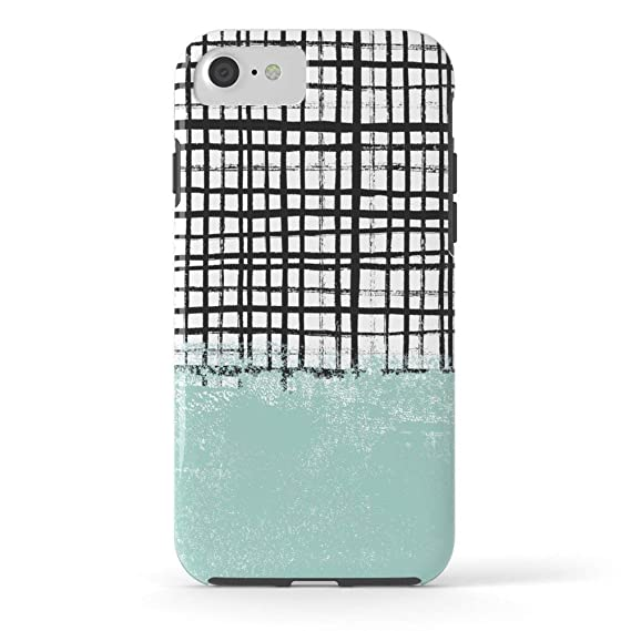 reputable site 5d6a5 fa1bb Amazon.com: Phone Case Protective Design Cell Case Mila - Grid and ...