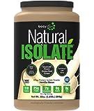 Bodylogix Natural Whey Protein Nutrition Shake, Isolate Vanilla, 1.85 Pound
