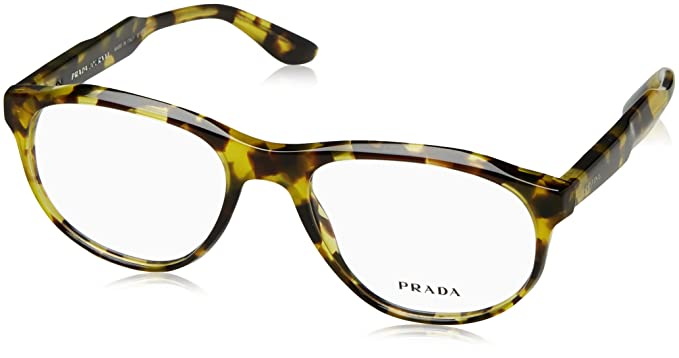 905fef8a4626 PRADA PR 12SV Eyeglasses UBL1O1 Yellow Havana 52-18-140  Amazon.co.uk   Clothing