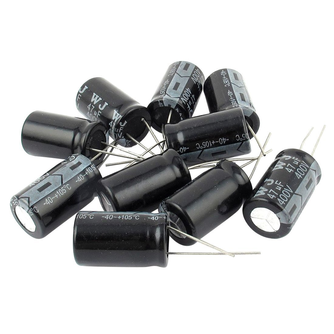 Electrolytic Capacitor - SODIAL(R) 10 Pcs 400V 47uF 105C Radial Lead Electrolytic Capacitor 16mm x 25mm