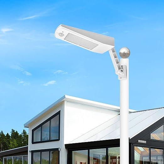 LED Solar Street Wall Light PIR Motion Sensor Dimmable Lamp Outdoor Garden Road