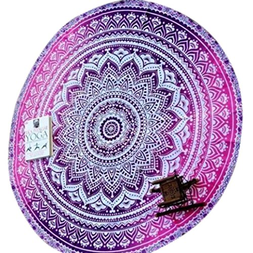 Beach Towel, Franterd Pool Home Blanket Throw Tapestry Hippy Gypsy Tablecloth Yoga Mat Round