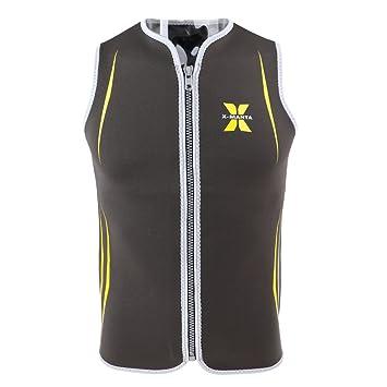 Women Wetsuit Vest 3mm Neoprene Full Zipper Zip Up Jacket Top Surf Kayak SUP