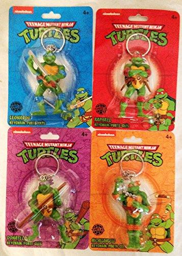 TMNT Kids Keychains Teenage Mutant Ninja Turtles Key Chains - Set of 4 - Key Chain Set