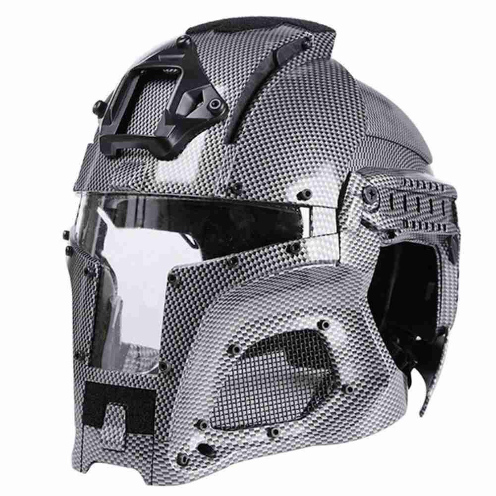Tactical Military Ballistic Helmet Side Rail NVG Shroud Transfer Base Army Combat Airsoft Paintball Full Face Mask Helmet by SUNRIS