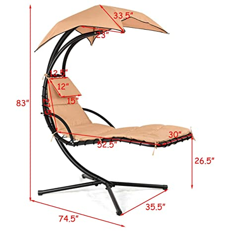 Fantastic Amazon Com Hanging Chaise Hammock Lounge Chair Capacity 330 Pdpeps Interior Chair Design Pdpepsorg