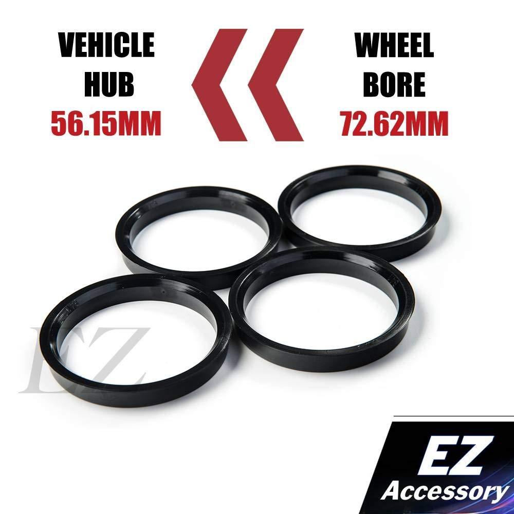 Hub Centric Ring Set O.D 72.62mm Wheel Bore OD To 56.15mm Hub ID Compatible With Civic Accord Subaru
