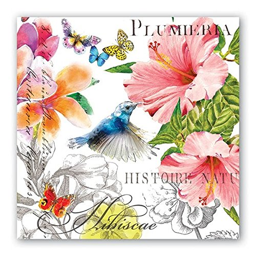 Michel Design Works 20 Count 3-Ply Paper Luncheon Napkins, Paradise - Floral Luncheon Plate
