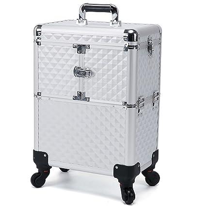 Amazon Com Cosmetic Case Trolley Beauty Rolling Box Vanity Case