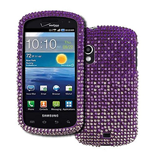 EMPIRE Samsung Stratosphere I405 Full Diamond Bling Design Hard Case Cover (Purple Fade) [EMPIRE Packaging]
