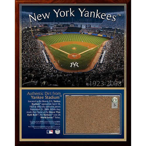 Steiner Sports MLB New York Yankees Original Stadium 8 x 10-inch Dirt - Plaque New Yankees York