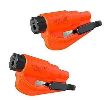 Resqme GB0-RQMTWIN-ORANGE Herramienta Rompecristales, Naranja, 2 Unidades