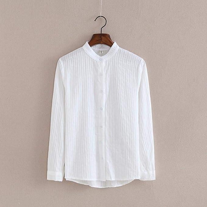 Camisa De Mujer Camisa Blusa Blanca Blusas De Otoño Camisas ...