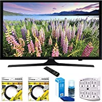 Samsung 50-Inch Full HD 1080p LED HDTV 2015 Model (UN50J5000) with 2x 6ft High Speed HDMI Cable Black, Universal Screen Cleaner for LED TVs & Stanley SurgePro 6 NT 750 Joule 6-Outlet Surge Adapter