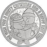 #2: 2017 Snowmen Caroling 1oz Christmas Round .999 Silver Uncirculated