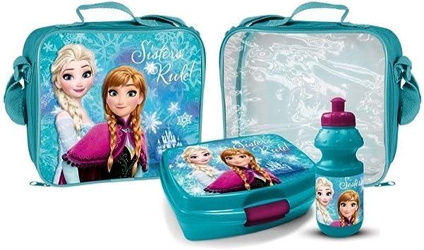 Disney Frozen Die Eisk/önigin Pausen-Set Brotdose Trinkflasche Lunch-Set