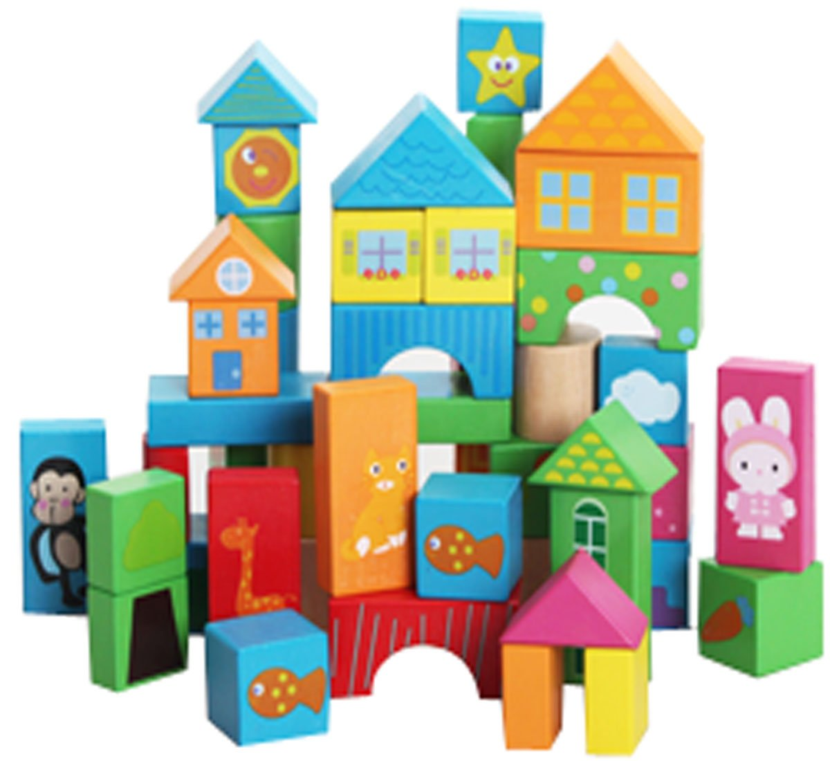 Largeパーティクルブロック、子供たちの認識機能早期教育Building Blocks   B00NOPCPKG
