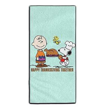 Charlie Brown de Acción de Gracias con Snoopy poliéster terciopelo toallas de baño de toallas de cara 3070 cm: Amazon.es: Hogar