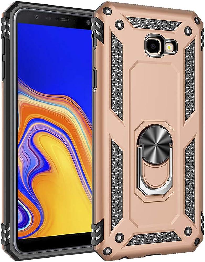Harte Schale Schutzh/ülle Magnetfahrzeug St/änder Handyh/ülle 360-Grad-Drehung Metallring Handy-Schutz Telefonkasten Kompatibel mit Samsung Galaxy J4 Plus H/ülle Ultrad/ünn Silikon