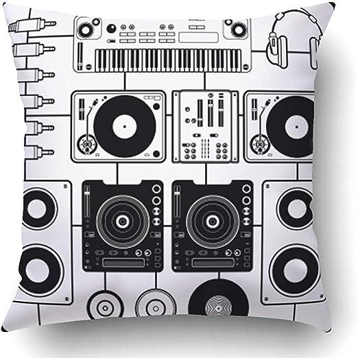 Moily Fayshow Fundas de Cojines Tocadiscos Negro Música de DJ ...