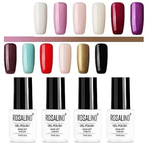 ROSALIND color gel esmalte de uñas semipermanente de larga duración empapado de lámpara LED UV 12. Pasa ...