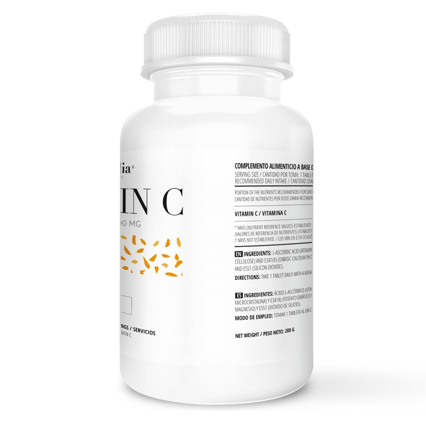 Vitamina C | Dosis Diaria 1000mg | Suministro para 6 Meses (180 Comprimidos) | Máxima Capacidad Antioxidante | Calidad de Vitaminalia: Amazon.es: Salud y ...
