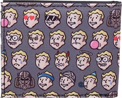 Fallout 4 Vault Boy Emojis Mens Bi-Fold Wallet
