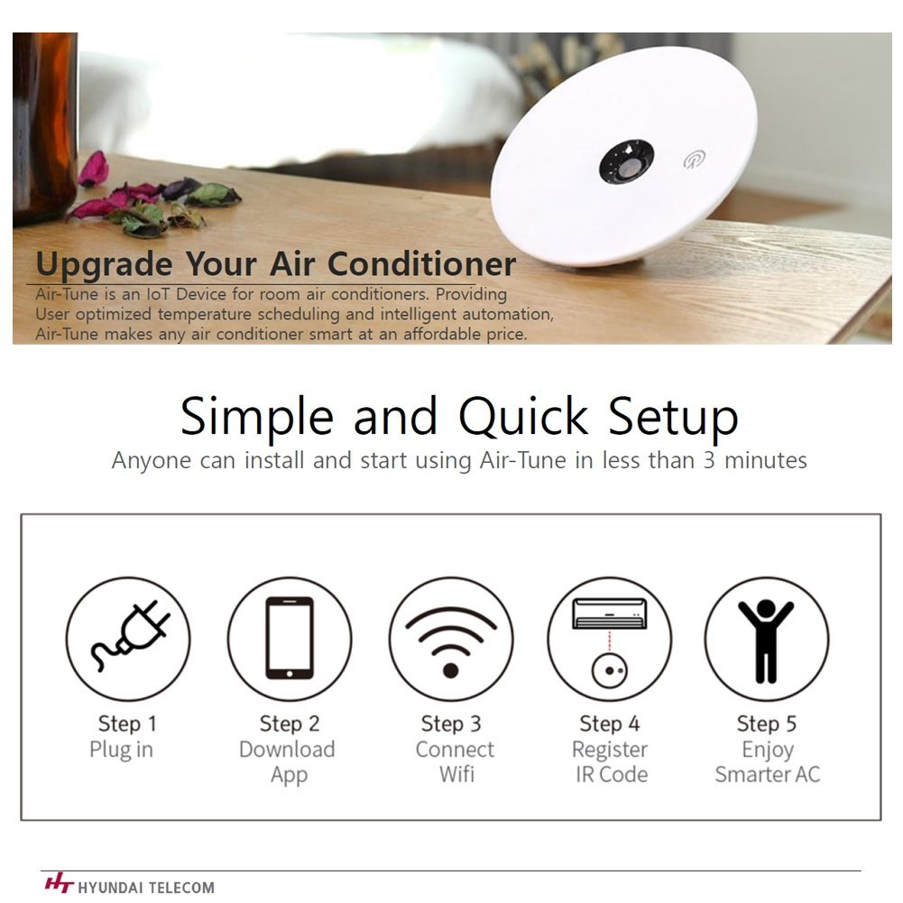 Air Tune Wifi Smart Ac Control Conditioner Compatible Installation Wiring Diagram Hyundai Home Automation System Table Of By With Ios And Android Mp3 Players Accessories