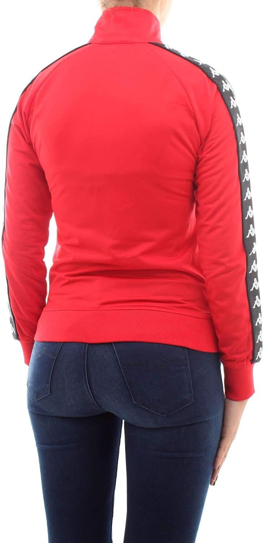 Kappa Damen Wanniston Slim 222 Banda Authentic Weste A30-rot-schwarz
