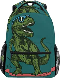 School Backpack Skateboard Dinosaur Teens Girls Boys Schoolbag