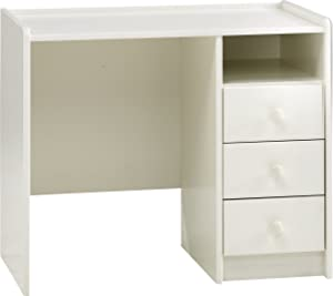 Steens 29007750 Kids 3-Drawer Pine Desk, Whitewash Finish - White