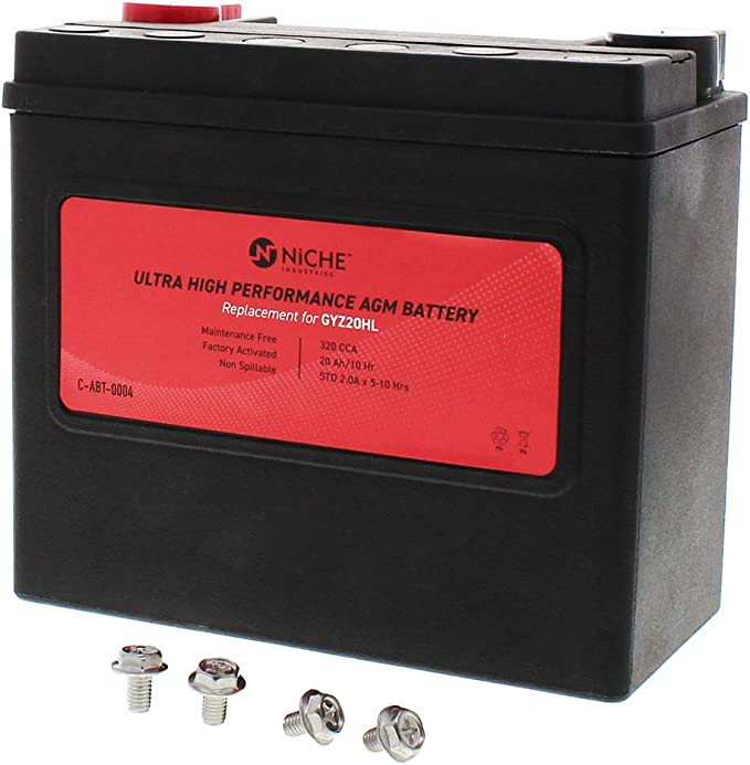 Custom /& more NICHE AGM Battery for GYZ20HL fits Harley-Davidson Softail