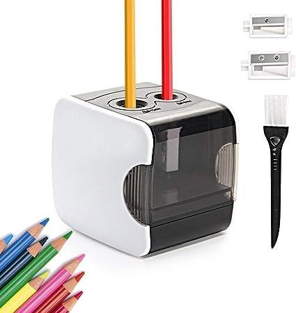 Rosa temperamatite automatico veloce e affilato materiale per studenti per uso a casa e in ufficio batterie non incluse Temperamatite elettrico