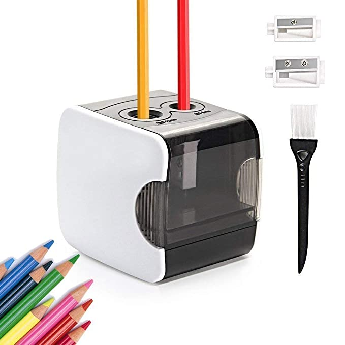 69 opinioni per HOMMINI Temperamatite Elettrico Professionale Alimentato da USB o Batteria con 2