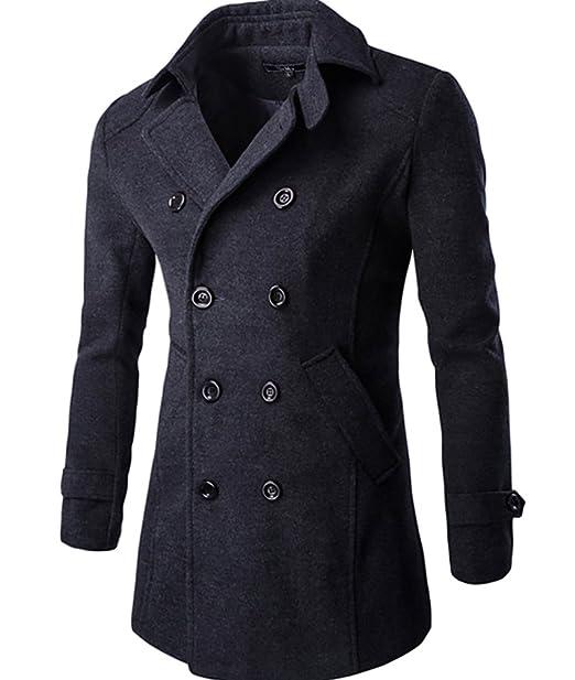 CeRui Chaqueta Abrigos Chaqueta Hombres Jacket Outerwear Tops Blazer M Gris oscuro: Amazon.es: Ropa y accesorios