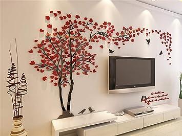 LHGYA Wohnzimmer 3D Baum Wand TV Wand Hintergrund DIY Wandtattoo ...